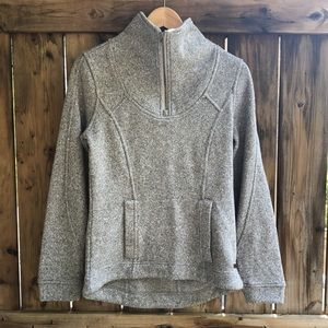 ROOTS gray pullover 1/4 zip sweater size small